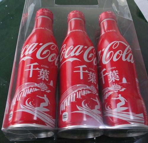 千葉デザインのアルミ缶のコカ・コーラ