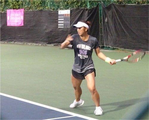 有明のジャパンウイメンズオープンテニス 土居美咲の練習風景