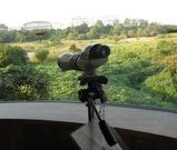 東京港野鳥公園の望遠鏡 画像