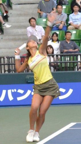 東レ パン・パシフィックオープン・テニス 波形純理 対 尾崎里紗