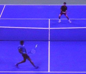 全米オープンテニスのシングルス2回戦 錦織圭がモンフィスの途中棄権で勝利