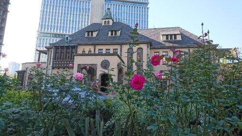 バラ越しに見る赤坂プリンス クラシックハウス