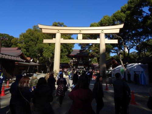 正月は明治神宮の参拝、清正の井戸、パレスホテルの二十絃箏コンサート