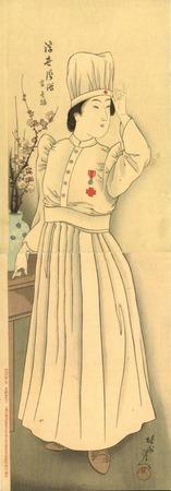 楊州周延 浮世風俗 當世振 看護婦