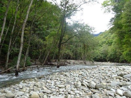 西沢渓谷の入り口あたりを散策