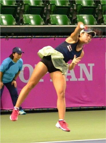 有明のジャパンウイメンズオープンテニス 日比野菜緒