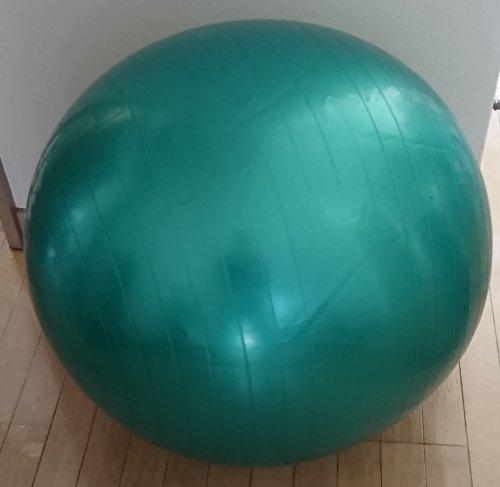 コロナ自粛の運動不足による腰痛対策のためにバランスボールをパソコンの椅子代わりに