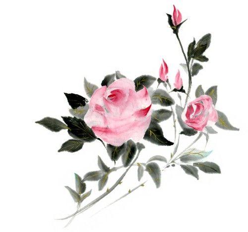 バラの花の絵