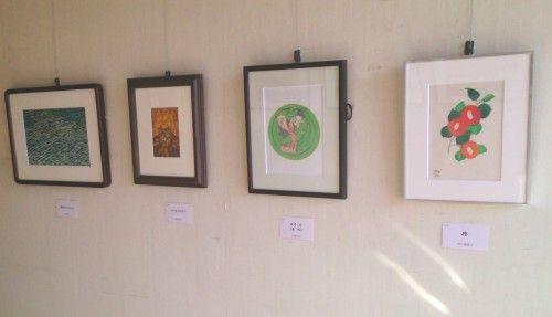 朝香伝統木版画教室の作品展版画展