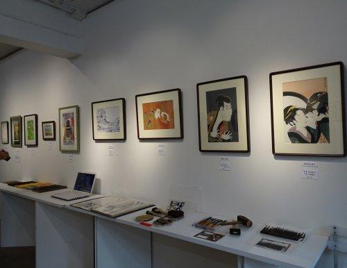 「第8回朝香伝統木版画教室作品展」根津のギャラリーKingyo