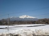 軽井沢冬の浅間山