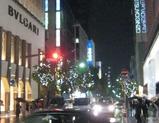 銀座の通りの電飾