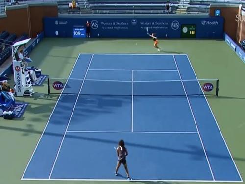 テニスのW&Sオープンのシングルス2回戦で大坂なおみが勝利3回戦へ。コロナ対策で無観客で線審も無し