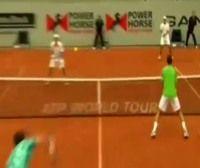 テニスのパワー・ホース世界チーム・カップ チェコ戦 ダブルス