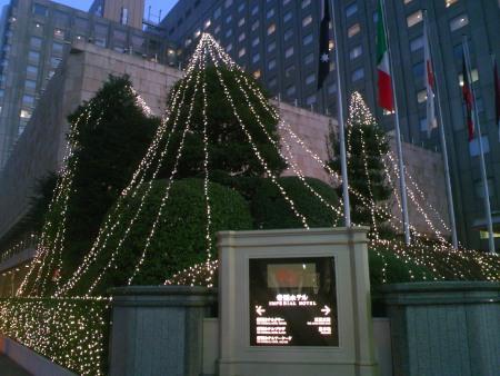 帝国ホテル クリスマスイルミネーション