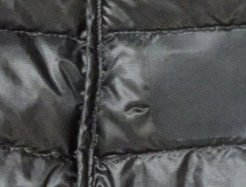 Yeti(イエティ)のダウンジャケットに鍵裂きをしてしまい、破れの修復に100均のナイロン補修シートでトライし