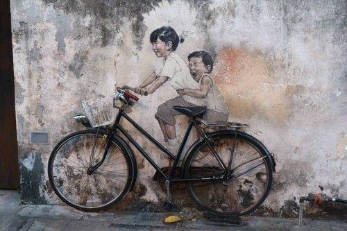 マレーシアのペナン島のジョージタウンのストリートアート