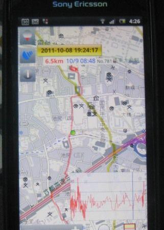 地図ロイドに山旅ロガーの測定結果を表示