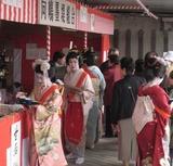 桜橋たもとの向島芸者さんの茶店