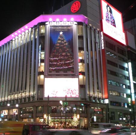 銀座三越 クリスマスイルミネーション