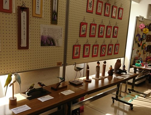 「自由が丘女神まつり」自由が丘住区センターで作品展 バードカービング作品を展示