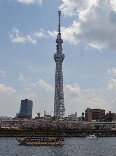 桜橋を渡って浅草側へ