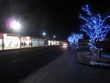 軽井沢プリンスのアウトレットモール冬のライトアップ