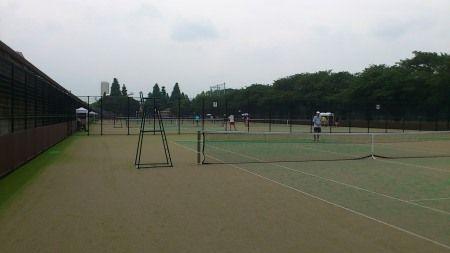 リニューアルした駒沢のテニスコート