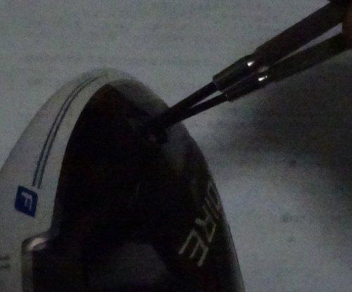 中古で購入したテーラーメイド のgloire fのウエイトが緩み音がしだしたので DIYで修理