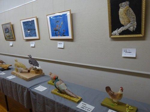 「野鳥に親しむ・バードカービング作品展2017」新宿御苑入り口のアートギャラリー