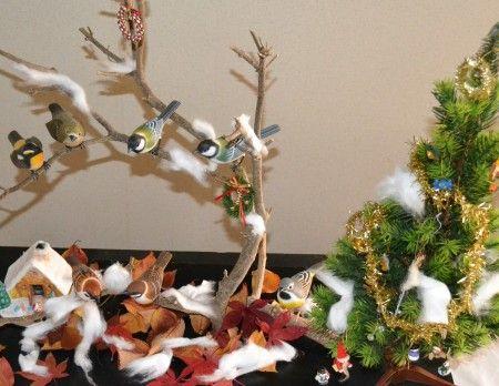バードカービングの模様替え クリスマス