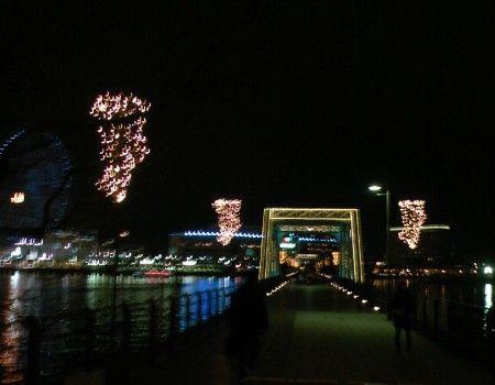 桜木町駅の駅前から横浜ワールドポーターズをつなぐ汽車道