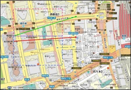 新宿拡大地図