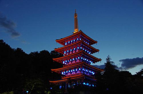 高幡不動尊ブルーライトアップ2012-4