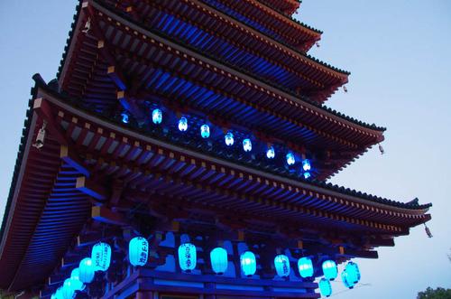 高幡不動尊ブルーライトアップ2012-2
