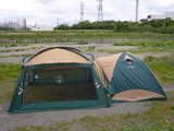 テントとタープ連結1