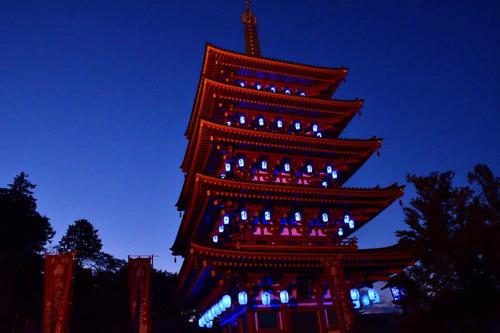 高幡不動尊ブルーライトアップ2016