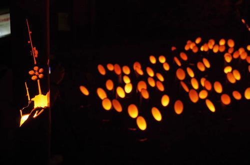 百草園紅葉ライトアップ201211-12