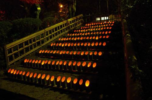 百草園紅葉ライトアップ201211-1