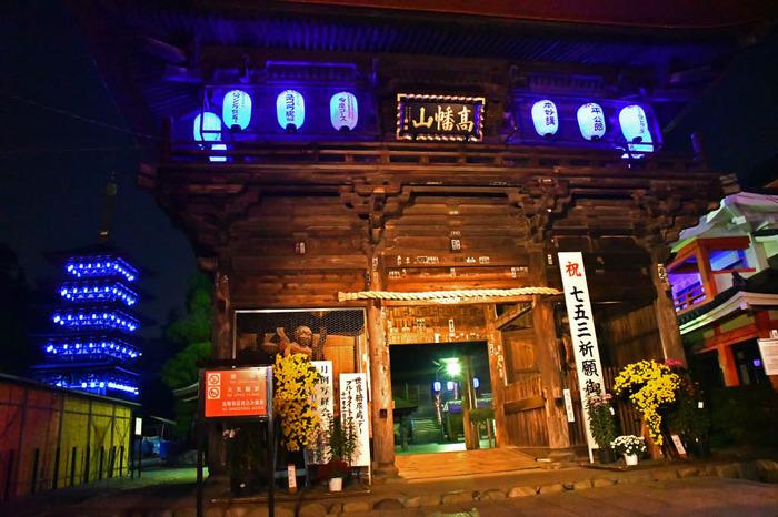 高幡不動尊ブルーライトアップ2017