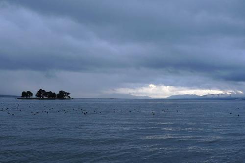 宍道湖の夕景201212-4