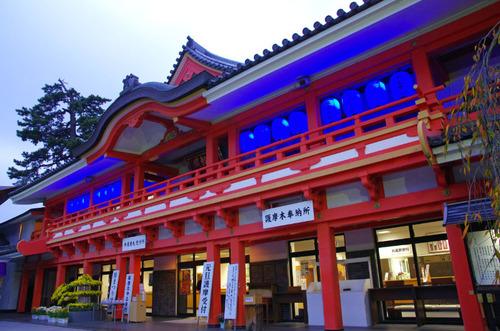 高幡不動ブルーライトアップ2013-6