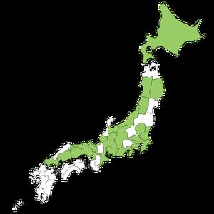 一丁焼き所在地日本地図