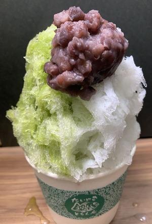 抹茶練乳あずき氷2