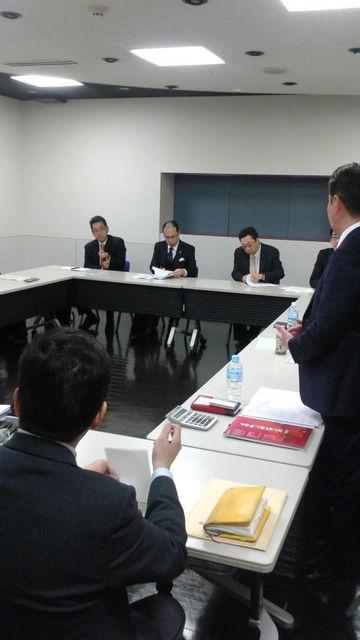 (3)営業幹部の方々との新年会議2