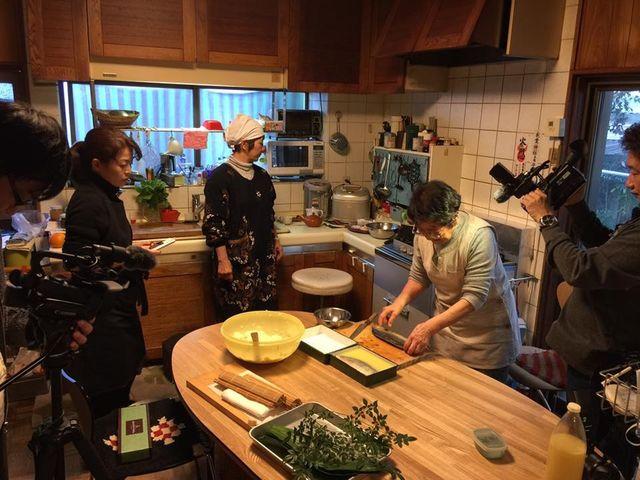 (3)サバ寿司作り方撮影風景