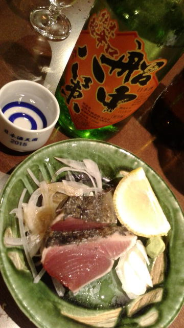(8)船中ひやおろしと鰹の塩タタキ