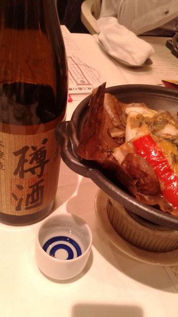 (9)「樽酒」と「朴葉焼き」