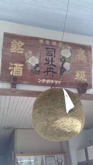 (2)玄関の酒林