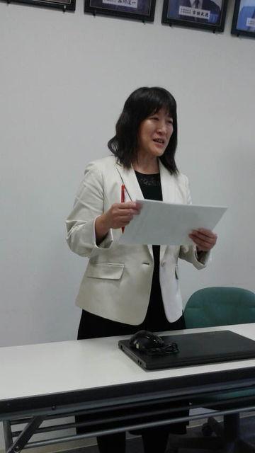 (5)輸出部会報告、山本管理監さん